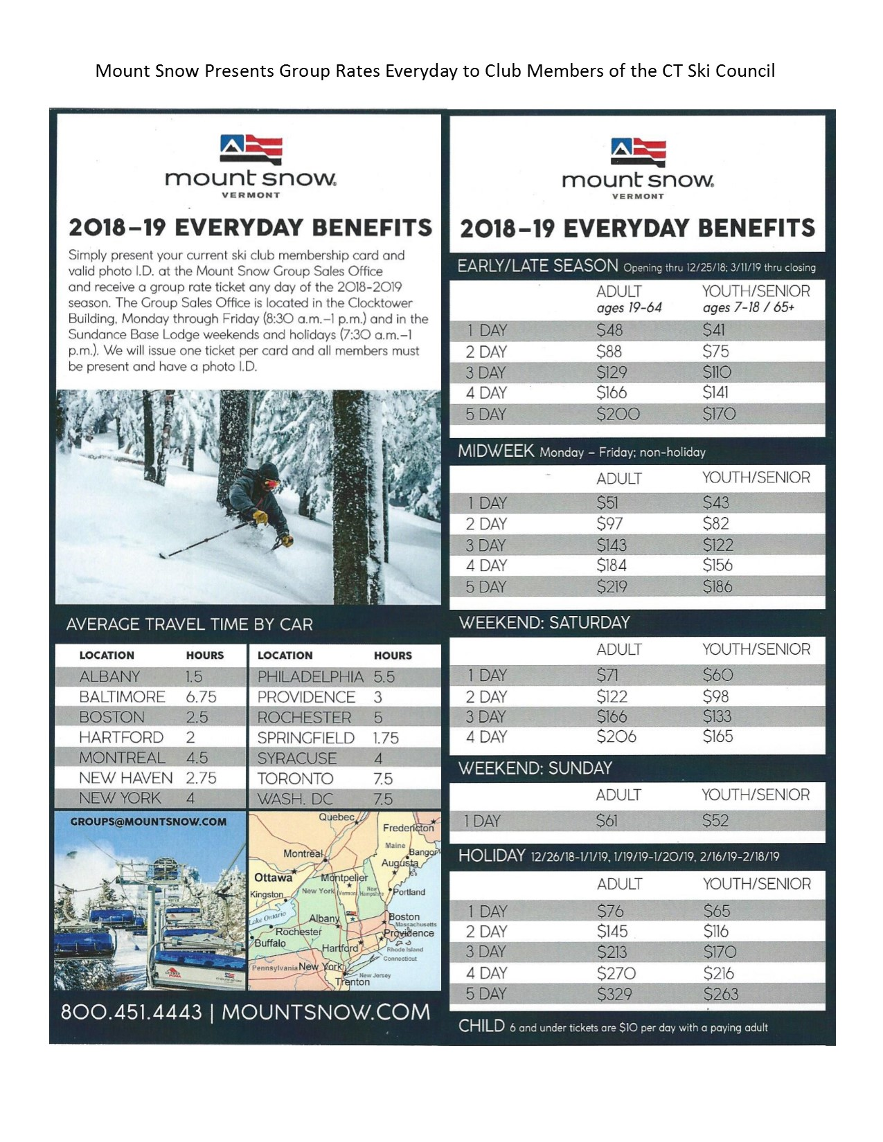 Mount Snow Group Flyer